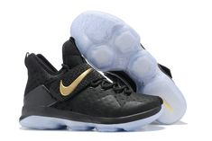 best website 4ab9c 601ba 2017 April New Arrival Nike LeBron 14 XIV Black Metallic Gold Championship  For Sale Cheap - Click Image to Close