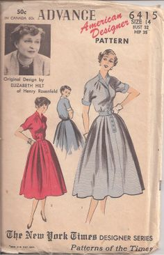 Advance American Designer Dress Pattern