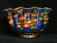 Wilhelm Kralik & Sohne murrhine glass bowl