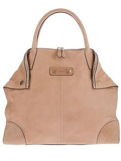 Omg. Love love love this. Alexander McQueen nude leather bag.