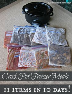 How I created 11 freezer meals in just ten days. And I didn't spend any extra time cooking than I normally would have!   suzyhomemaker.net