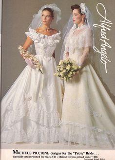 Classic Wedding Dress, New Wedding Dresses, Bridal Dresses, Vintage Wedding Photos, Vintage Bridal, Wedding Dress Patterns, Alfred Angelo, Ruffles, Clothing