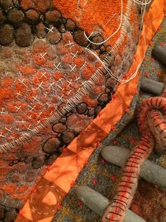 "Amy Meissner, textile artist, from the post ""The maker's hand."" www.amymeissner.com/blog/the-maker's-hand"