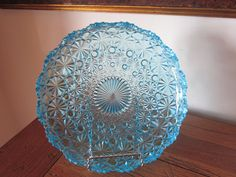 Stunning Blue Glass Plate with Raised Rim by WVMountainShine, $13.99