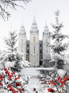Salt Lake Temple- wouldn't this be so beautiful to display on a mantle during the holidays?