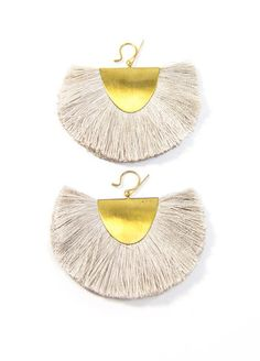 Hazel Cox Little Rock Fan Earrings – BellJar.  women's fashion and style. jewelry. boho earrings.
