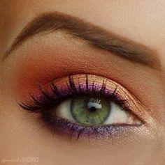 Orange and purple summer look.