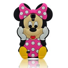 HOT PINK 3D Cartoon Mouse Soft Silicone Case Cover Skin for Samsung Galaxy S4 i9500 SIV