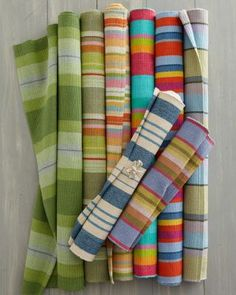 Cottage Stripe Cotton Rug Collection by Dash and Albert -We have one of these and I LOVE it!