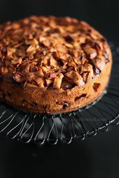 An Apple Cake so easy to make, two layers of apple in a moist cake. Tastes good warm or cold.