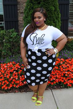 Jayne Polka Dot Skirt  $31.50 Style Side Slit Tee $25.90