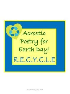 A little fun with acrostic poetry for Earth Day! FREE!
