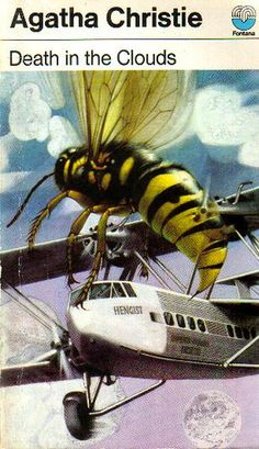 Death in the Clouds by Agatha Christie | Flickr - Photo Sharing!  Tom Adams can NEVER resist drawing an insect--seriously, if there is ANY cause, he's got one on the cover.