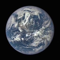 This morning I want to share this incredible image that was released yesterday by NASA. For the first time ever, we can see an Overview of the entire sunlit side of the Earth from one million miles away. By combining three separate photographs taken by the Deep Space Climate Observatory satellite, NASA was able to create this stunning image