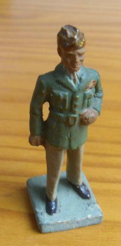 Durso Figurine Plâtre Farine Eisenhower CF Elastolin | eBay