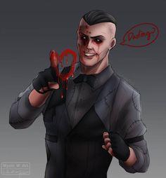 Eddie Gluskin by on DeviantArt Outlast 1, Outlast Horror Game, Waylon Park, Ichimatsu, Drawing Games, Little Pigs, Game Character, Game Art, Video Games