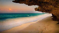 Natural window, sunset over beach, Zanzibar, Tanzania, 7c91f832520846f09ffe174b335a1770
