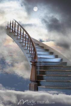 DesignPics Stairway to Heaven - Treppe Stairway To Heaven Tattoo, Stairs To Heaven, Dslr Background Images, Photo Background Images, Photo Backgrounds, Heaven Painting, Heaven Art, Heaven Wallpaper, Heaven Pictures