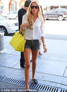 Petra Ecclestone + Yellow Bag