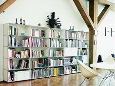 Bibliothèque ouverte composable en métal USM HALLER BOOKSHELVES | Bibliothèque composable