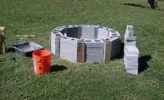 How To Build A Cinder Block Firepit Diy Round Cinder Block Fire Pit