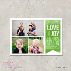 modern holiday photo christmas card -