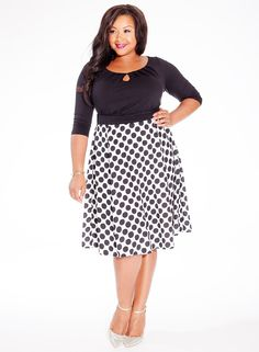 #plussize Morgan Plus Size Dress in Downtown Dot at Curvalicious Clothes #bbw #curvy #fullfigured #plussize #thick #beautiful #fashionista #style #fashion #shop #online www.curvaliciousclothes.com TAKE 15% OFF Use code: TAKE15 at checkout