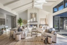 Inspiration pic for the great room showing two long sofas. That large coffee table with the stones under glass (at Porch) would be perfect!
