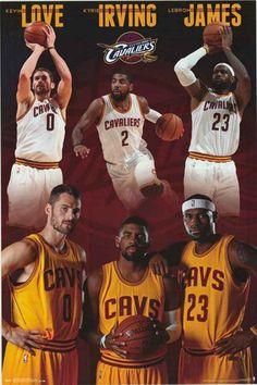 Cleveland Cavs Team Stars 2014 Basketball Poster 22x34