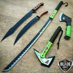 Zombie Weapons, Ninja Weapons, Weapons Guns, Fantasy Sword, Fantasy Weapons, Tactical Knives, Tactical Gear, Pretty Knives, Armas Ninja