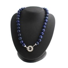 """Artisan Crafted Sterling Silver 20"""" Lapis Bead Necklace #ArtisanCrafted #StrandString"""