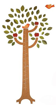 DiaperscomNursery  Petit Collage Fabric Wall Decals Tree Growth Chart - Best Price