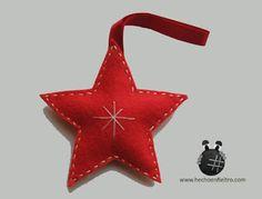 Hecho en Fieltro: Estrella de Navidad