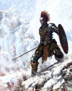 female viking by chrislazzer.deviantart.com on @DeviantArt