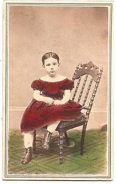 Civil War Era CDV Hand Colorized Young Girl Pawtucket Rhone Island   eBay