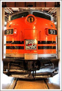trainsusa:    Western Pacific Diesel by *MidEngine4Life    Nice streamliner!