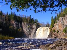 falls in minnesota | Baptism river falls in minnesota