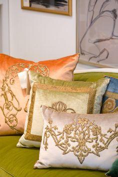 Rebecca Vizard pillows at Fritz Porter