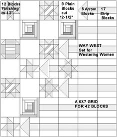 Pattern for Way West set at  Civil War Quilts