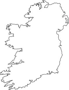 ireland outline map - Google Search