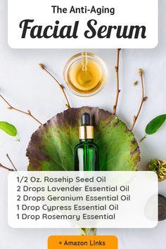 Anti Aging Facial, Anti Aging Serum, Anti Aging Skin Care, Natural Skin Care, Natural Face, Cypress Essential Oil, Geranium Essential Oil, Essential Oils, Doterra