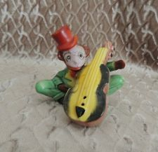VINTAGE NIKONIK MONKEY & Fiddle SALT & PEPPER SHAKER JAPAN