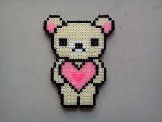 Love bear hama perler beads