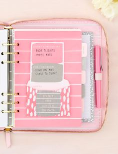 Be inspired to decorate your kikki.K planner and fall in love with your life.