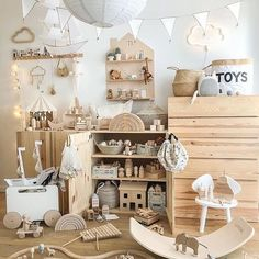 28 Brilliant Playroom Decor Ideas: Discover amazing ideas for a cool playroom makeover ranging from small-scale DIY projects that will take an afternoon or two to complete, to full-scale remodeling and ready-to-build kits. Playroom Decor, Baby Room Decor, Nursery Room, Kids Decor, Boy Room, Nursery Decor, Decor Ideas, Playroom Ideas, Playroom Storage