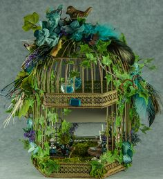 Fairy room in a birdcage!   For the back deck