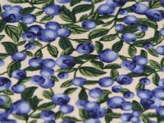 Fat Quarter 1/2 yd or 1 yd Blueberry on Cream by joyfully3 on Etsy