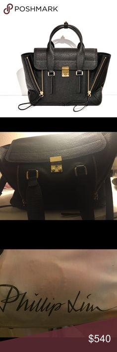 Medium 3.1 pashli phillip lim bag Authentic 3.1 medium black phillip lim bag good condition alittle scratches on the front gold hardware. Comes with dustbag and detachable straps 3.1 Phillip Lim Bags Satchels