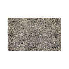 Trystan Indigo Wool-Blend 5'x8' Rug | Crate and Barrel