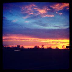 Sunset - oh the wonderful colors the setting sun creates.